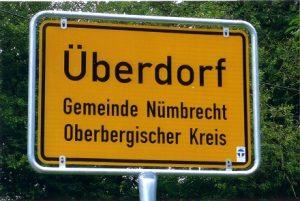 Ortsschild Überdorf